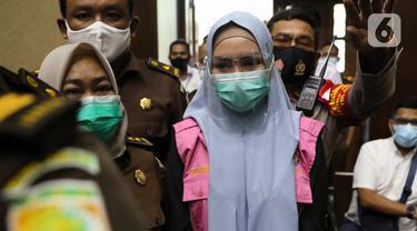 FOTO: Jaksa Pinangki Jalani Sidang Pembacaan Eksepsi