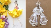 Wanita Ini Pakai Bunga Asli Sebagai Desain Baju, 7 Hasilnya Bikin Takjub. (Sumber: Instagram/moomooi)