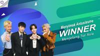 Begini antusiasme WINNER menjelang mereka menyelenggarakan tur Asia. (Foto: Instagram/winnercity, Desain: Nurman Abdul Hakim/Bintang.com)