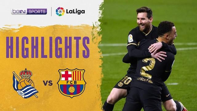 Berita Video Melihat Pesta Gol Barcelona ke Gawang Real Sociedad di Liga Spanyol Pekan 28 (22/3/2021)