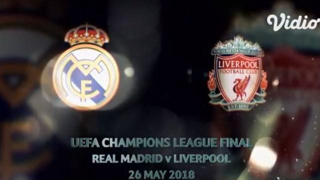 Berita video flashback final Liga Champions 2017/2018 antara Real Madrid melawan Liverpool di Kiev, Ukraina, pada Mei 2018.