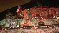 Konser Gamelan bertema Jelajah Bunyi: Selepas Senja di Tanah Besi bertempat di gedung pertunjukan Sawunggaling kampus Lidah Wetan Universitas Negeri Surabaya. (Foto: Liputan6.com/Dian Kurniawan)