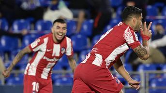 Hasil La Liga Spanyol: Suarez 2 Gol, Atletico Madrid Bungkam Getafe