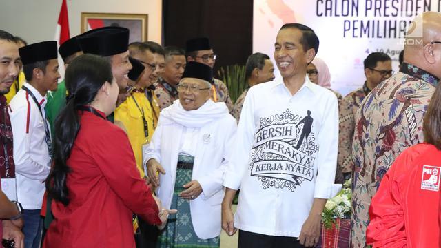 Jokowi-Maruf Amin Daftar Capres Pilpres 2019