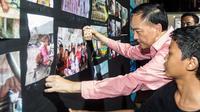 Anak-Anak kampung pengupas kerang gelar pameran fotografi. (Istimewa)