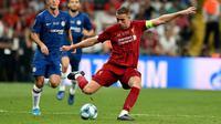 Liverpool juara UEFA Super Cup 2019 usai mengalahkan Chelsea 5-4 lewat drama adu penalti usai bermain 2-2 selama 120 menit di Vodafone Arena, Istanbul, Kamis (15/8/2019) dini hari WIB (Foto: Dok Liverpool)