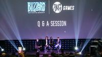 Konferensi Pers AKG Games dan Blizzard Entertainment di Jakarta, Kamis (12/9)/Stella Maris.