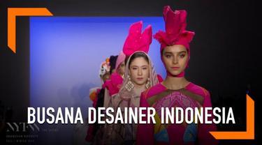 Empat desainer Indonesia mampu kembali berbicara di ranah internasional. Dian Pelangi, Itang Yunasz, Alleira Batik, dan 2 Madison Avenue memamerkan busana rancangannya di event fashion yang dilirik oleh dunia yaitu New York Fashion Week 2019.