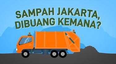 Sampah Jakarta dibuang ke TPST Bantargebang di Bekasi, Jawa Barat.