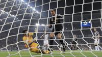 Bintang Real Madrid Cristiano Ronaldo saat laga melawan Juventus (Reuters)