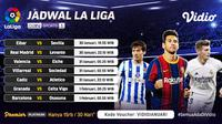 Pertandingan La Liga Spanyol pekan 21 dapat disaksikan melalui platform Vidio. (Dok. Vidio)
