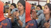 Viral Ketahuan Bawa Makeup ke Sekolah, Siswi Ini Alami Kejadian Tak Terduga. (Sumber: TikTok/heyitsecaw)