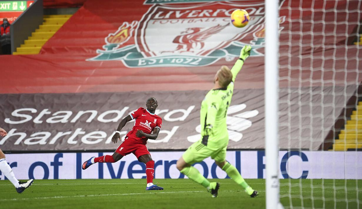 Foto Liverpool Bantai Leicester City 3 0 Di Anfield Bola Liputan6 Com
