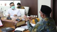Bertemu Kepala BKKBN, Menko PMK menyampaikan apresiasi serta saran dalam penurunan stunting. (Dok BKKBN)