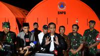 Presiden Jokowi Panglima TNI percepat recovery kawasan Rinjani.