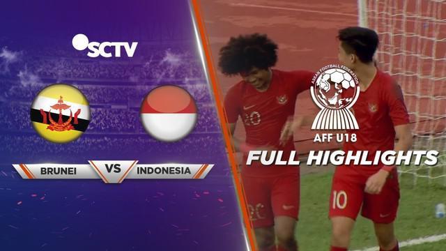 Berita video highlights Piala AFF U-18 2019 antara Brunei Darussalam melawan Timnas Indonesia yang berakhir dengan skor 1-6,
