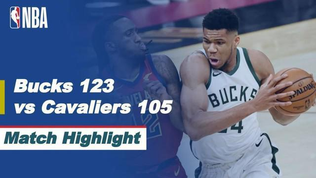 Berita video highlights NBA, Milwaukee Bucks menang atas Cleveland Cavaliers, 123-105, Sabtu (6/2/21)