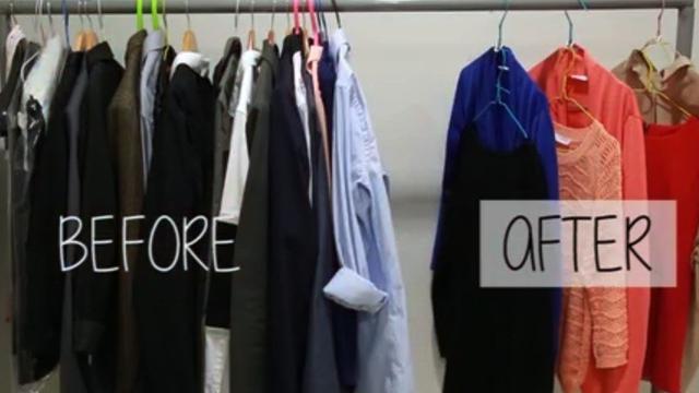 Dengan bermodalkan tutup botol kaleng, anda bisa membuat lemari pakaian anda lebih luas.