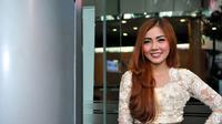 Bella Shofie saat ditemui usai mengisi acara salah satu stasiun televisi di Jakarta, Jumat (5/6/2015). (Liputan6.com/Panji Diksana)