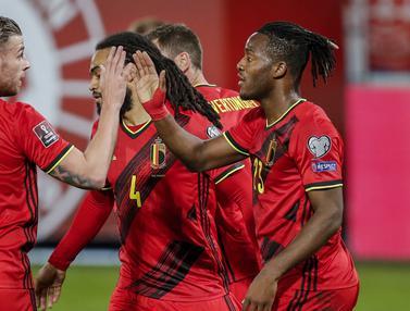 FOTO: Tanpa Romelu Lukaku, Belgia Lumat Belarusia 8-0 - Michy Batshuayi; Tim Belgia