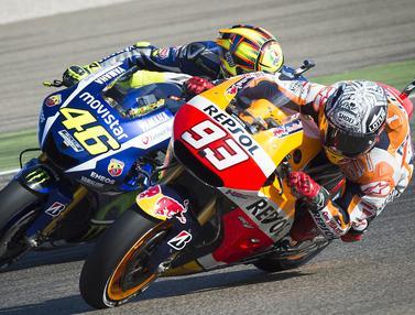 FOTO: Melihat Kembali Persaingan Valentino Rossi dan Marc Marquez di MotoGP