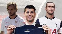Gareth Bale , Ivan Rakitic dan Alvaro Morata. (Bola.com/Dody Iryawan)