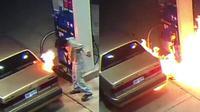 Pria ini berniat membunuh laba-laba yang masuk di mobilnya dengan korek api saat berada di tempat pengisian bensin.