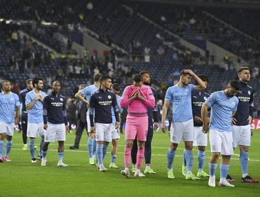 Ekspresi Kekalahan Pemain Manchester City
