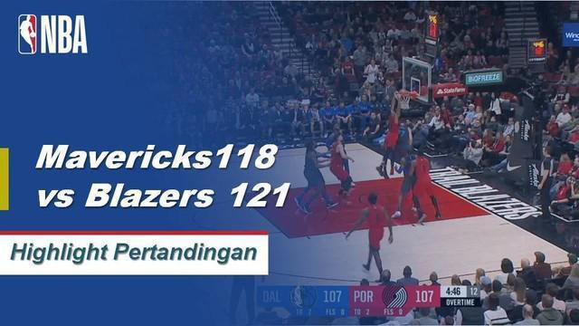 Damian Liliard mencetak 33 poin dan memberi 7 assist untuk membantu Portland mengalahkan Mavericks