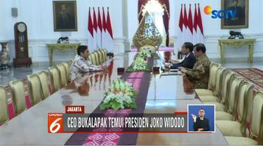 CEO Bukalapak Achmad Zaky temui Presiden Jokowi minta maaf atas cuitan di media sosial tentang research and development (R&D).