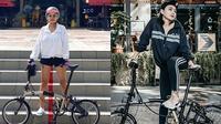 7 Gaya Seleb Wanita saat Bersepeda, Tetap Kece (Sumber: Instagram/nikitamirzanimawardi/wikasalim)