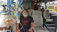 Mobil Oksigen berikan layanan udara bersih bagi warga Kalimantan Tengah yang terdampak kabut asap kebakaran hutan dan lahan (karhutla). (Dok Biro Komunikasi dan Pelayanan Masyarakat Kementerian Kesehatan RI)