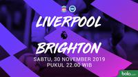 Premier League - Liverpool Vs Brighton (Bola.com/Adreanus Titus)