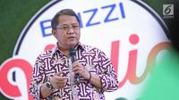 Menteri Komunikasi dan Informatika (Menkominfo),  Rudiantara dalam acara Brizzi Vidio Fair 2017 di kawasan Jakarta, Sabtu (9/12). Dalam kesempatan yang sama, Rudiantara menyambut baik acara Brizzi Vidio Fair 2017 tersebut. (Liputan6.com/Herman Zakharia)
