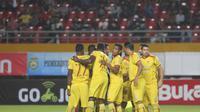 Sriwijaya FC menang telak 4-0 atas PSIS Semarang pada lanjutan Liga 1 2018 di Stadion Gelora Sriwijaya Jakabaring, Selasa (22/5/2018). (Bola.com/Riskha Prasetya)