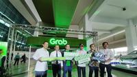 peluncuran Grabcar Elektrik di Terminal 3 Bandara Internasional Soekarno Hatta, Senin (27/1/2020). (Pramita/Liputan6.com