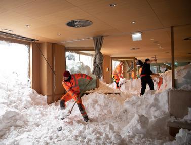 Longsor Salju Terjang Hotel di Swiss
