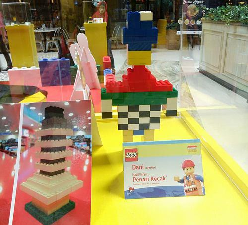 Hasil karya anak dari 72 keping LEGO  / copyright redaksi vemale/zika