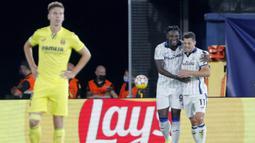 Pada menit ke-6 Atalanta berhasil unggul 1-0 lewat gol gelandang Remo Freuler. Ia sukses membobol gawang Villarreal usai menerima umpan Duvan Zapata. (Foto: AP/Alberto Saiz)