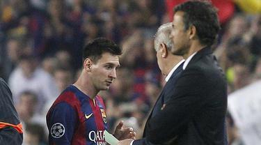 Messi dan Luis Enrique