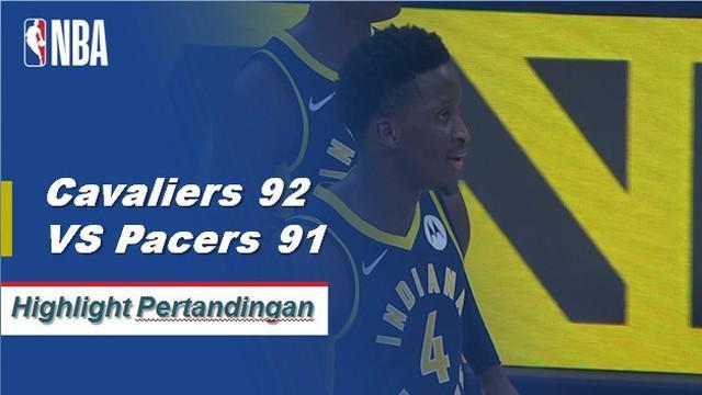 Larry Nance Jr. memimpin Cleveland dengan 15 poin, termasuk tip pemenang pertandingan, saat Cavaliers meraih kemenangan atas Pacers, 92-91.