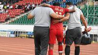 Gelandang Timnas Indonesia U-18, Mochamad Supriadi, diragukan tampil melawan Myanmar karena mengalami cedera. (dok. PSSI)
