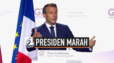Presiden Prancis Emmanuel Macron marah setelah Presiden Brasil Jair Bolsonaro membalas unggahan Twitter tentang istrinya dengan respons tawa.