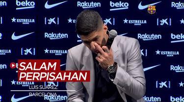 Berita VIdeo Menahan Tangis, Luis Suarez Pamit dari Barcelona