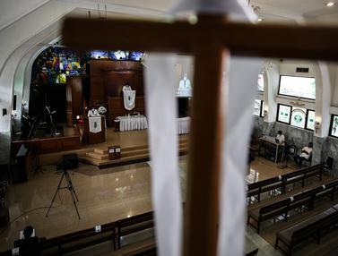 FOTO: GPIB Effatha Gelar Ibadah Paskah dengan Protokol Kesehatan COVID-19