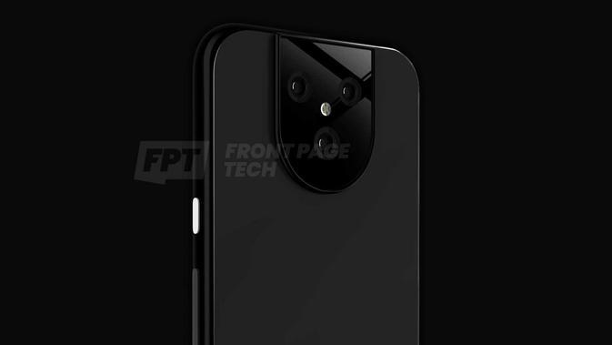 Bocoran bentuk smartphone terbaru Google Pixel 5. (Doc: Front Page Tech)