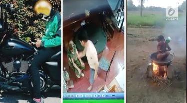 Video Hit hari ini hadir dari bocah yang mandi di atas tungku,  ojek online pakai moge, dan anak durhaka yang tampar ibu akhirnya minta maaf.