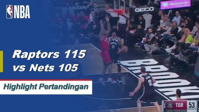 Nets Vs Raptors: Cuplikan Pertandingan NBA : Raptors 115 Vs Nets 105