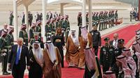 Kunjungan Donald Trump di Saudi. (AP)