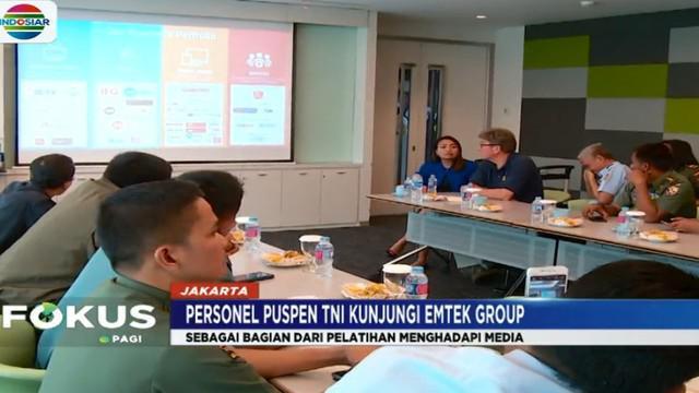 Pada kunjungan kali ini, anggota TNI berkesempatan untuk berdiskusi dengan pemangku kepentingan televisi SCTV dan Indosiar.